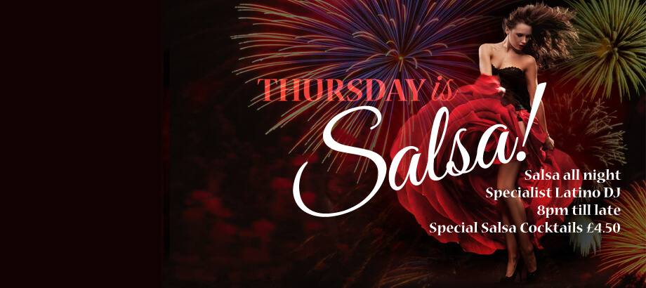 Thursday is Salsa all night at Harry's Bar